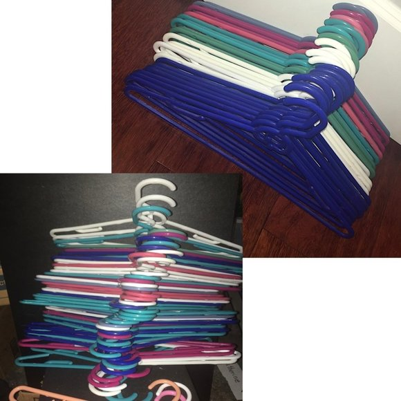 36 Slim Hangers with Nesting Hooks (Asst Colors)